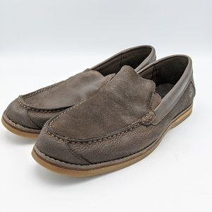 Timberland Loafers Shoes Slip On Brown Leather Men